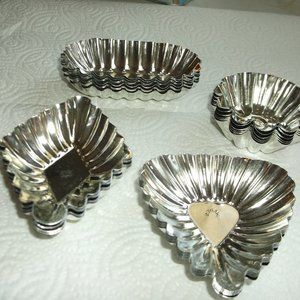 metal pastry molds from sweden set of 24